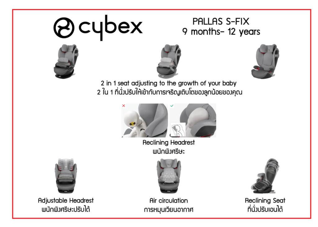 Cybex Thailand Baby Store Car seats Pallas Recline 13